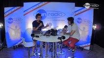 Boris Way en interview dans le studio de Fun Radio à l'EMF