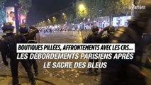 Boutiques pillées, affrontements avec les CRS… Les débordements parisiens après le sacre des Bleus