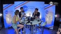 Afrojack en interview dans le studio de Fun Radio à l'EMF