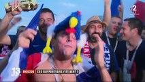 Coupe du monde 2018 : la joie des supporters français à Moscou