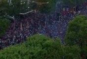 Celebración de los franceses tras ganar la segunda Copa de del Mundo en Rusia 2018