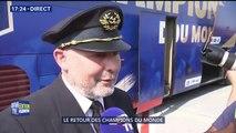 Il a eu le privilège de piloter l'avion qui a ramené les Bleus en France