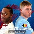 Vanavond staat Engeland  - België  op het programma! Kevin de Bruyne en Raheem Sterling hebben alvast een (fanatiek) potje FIFA gespeeld om uit te v