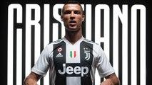 Cristiano Ronaldo sous ses nouvelles couleurs de la Juventus Turin