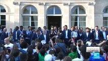 En IMAGES - Des Champs à l''Élysée, revivez le retour triomphal des Bleus dans la capitale française