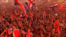 Le coin des supporters - Les fans croates mettent le feu à Zagreb