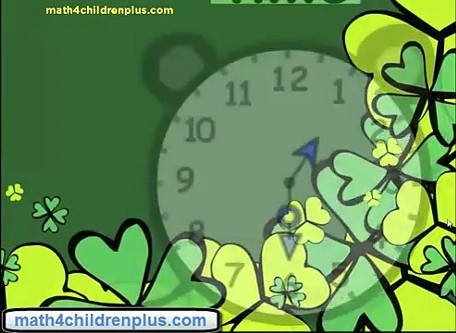 Teach kids how to tell the time at half past the hour e.g. 1:30, 2:30, 3:30 or half past o