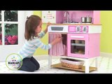 KidKraft Home Cooking Kitchen 53198 Girls Pink Play Toy Kitchen At http wooden toys direct