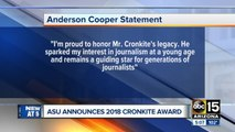 Anderson Cooper to receive Walter Cronkite Award at ASU