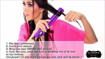 BEACH WAVES CURLS TUTORIAL - LONG HAIRSTYLES - HOW TO CURL YOUR HAIR WITH A STRAIGHTENER