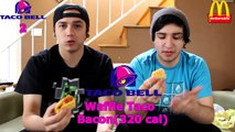 Hilarious Taco Bell vs. McDonalds Breakfast Battle!!