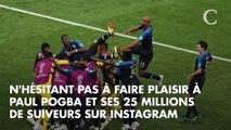 """PHOTOS. Paul Pogba fait """"daber"""" Emmanuel Macron pendant sa visite de l'Elysée"""