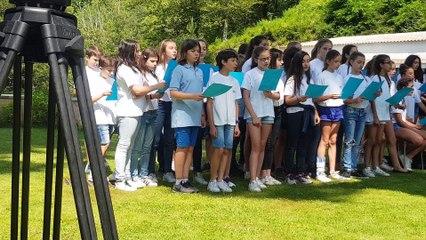 60 élèves de 6ème du collège Simon Vinciguerra présentent leur exposition permanente sur l'eau d'Orezza