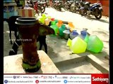 People suffer of water scarcity in Chintadripet, Chennai