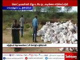Iron ore chemical waste dumped in pond near Dindigul will be removed in 2 days - District Collector