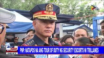 #PTVNEWS | PNP: Natapos na ang tour of duty ng security escorts ni Trillanes