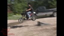INSANE Mini Dirt Bike ACCIDENT Kid Jumps Ramp Faceplant Into Pavement FAIL Pit Bike CRASH Video