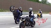 Insane Stunt Bike Wheelie Combo's HD Motorcycle Wheelies On Highway Street Bike Stunts Blox Starz TV