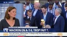 """Les Bleus reçus à l'Élysée: """"Macron en a fait beaucoup trop"""", estime la députée PCF des Hauts-de-Seine"""