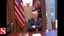 Trump konuşurken Beyaz Saray�ın ışıkları kapandı