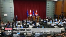 Japan, EU signs trade pact that will eliminate nearly all tariffs on traded goods