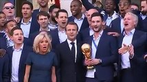HEROES' WELCOME: France's FIFA World Cup-winning team receive a rapturous welcome in Paris with a flypast, a victory parade on the Champs Elysees and an audienc