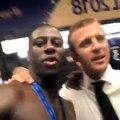 Paul Labile Pogba and Benjamin Mendy dabbing with French President Emmanuel Macron ⭐️⭐️(via