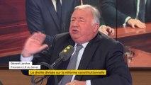 """Réforme constitutionnelle: Gérard Larcher est """"sur la ligne de crête"""" et """"ça n'est pas facile"""""""