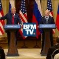 """J'ai dit """"serait"""" au lieu de """"ne serait pas"""". Quand la langue de Trump fourche face à Poutine"""