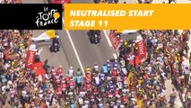 Neutralised start / Départ fictif - Étape 11 / Stage 11 - Tour de France 2018
