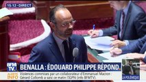 """Affaire Benalla: """"Nous souhaitons tous que l'enquête détermine les faits précis, l'enchaînement des décisions qui ont été prises"""", affirme Edouard Philippe au Sénat"""