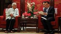 Tun Daim Zainuddin meets Chinese premier over Sino-M'sia ties