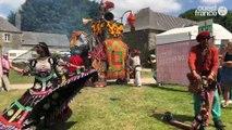Vieilles Charrues 2018. Cérémonie d'ouverture éléphantesque et le traditionnel tirer de charrue