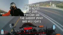 Motorcycle VS Cops Bike Cop + Police Car Chase Biker High Speed Police Pursuit Moto Outruns 2017
