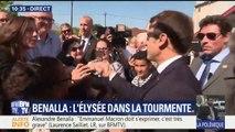 Affaire Benalla: en déplacement en Dordogne, Emmanuel Macron refuse de répondre aux questions des journalistes