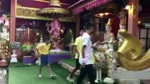 Tailândia: Javalis Selvagens participam de cerimônia budista