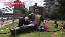 Giant Bare-Chested Jeff Goldblum Statue Appears In Central London