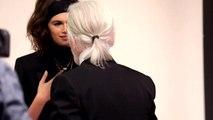 Le shooting de Kaia Gerber par Karl Lagerfeld pour la nouvelle collection automne-hiver 2018-2019 du créateur