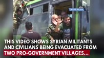 Pro-Assad Villages In Syria Evacuated As Part Of Deal With Insurgents
