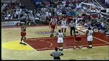 Michael Jordan - with Scottie Pippen 31 pts, playoffs 1992 bulls vs heat gm 3,  56 pts
