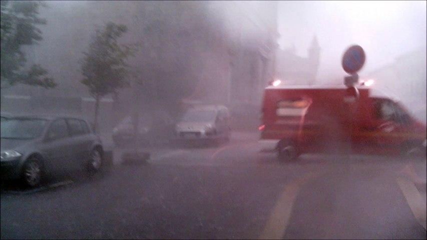 Déluge de grêle à Yssingeaux