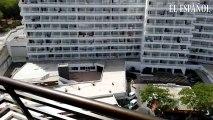 Un joven salta de balcón en balcón en Magaluf