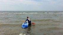 On a testé pour vous le kayak de mer à l'école de voile de Courseulles-sur-Mer.