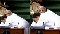 Rahul Gandhi HUGS PM Narendra Modi after his Lok Sabha SPEECH; Watch Video । Oneindia News