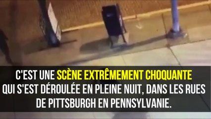Une femme tabassée en pleine rue... inconsciente, elle gît sur le sol et personne ne l'aide...