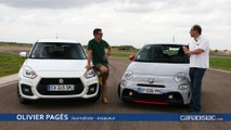 Comparatif vidéo - Abarth 595 vs Suzuki Swift