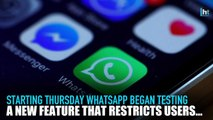 WhatsApp to stop Indian users from bulk forwarding messages
