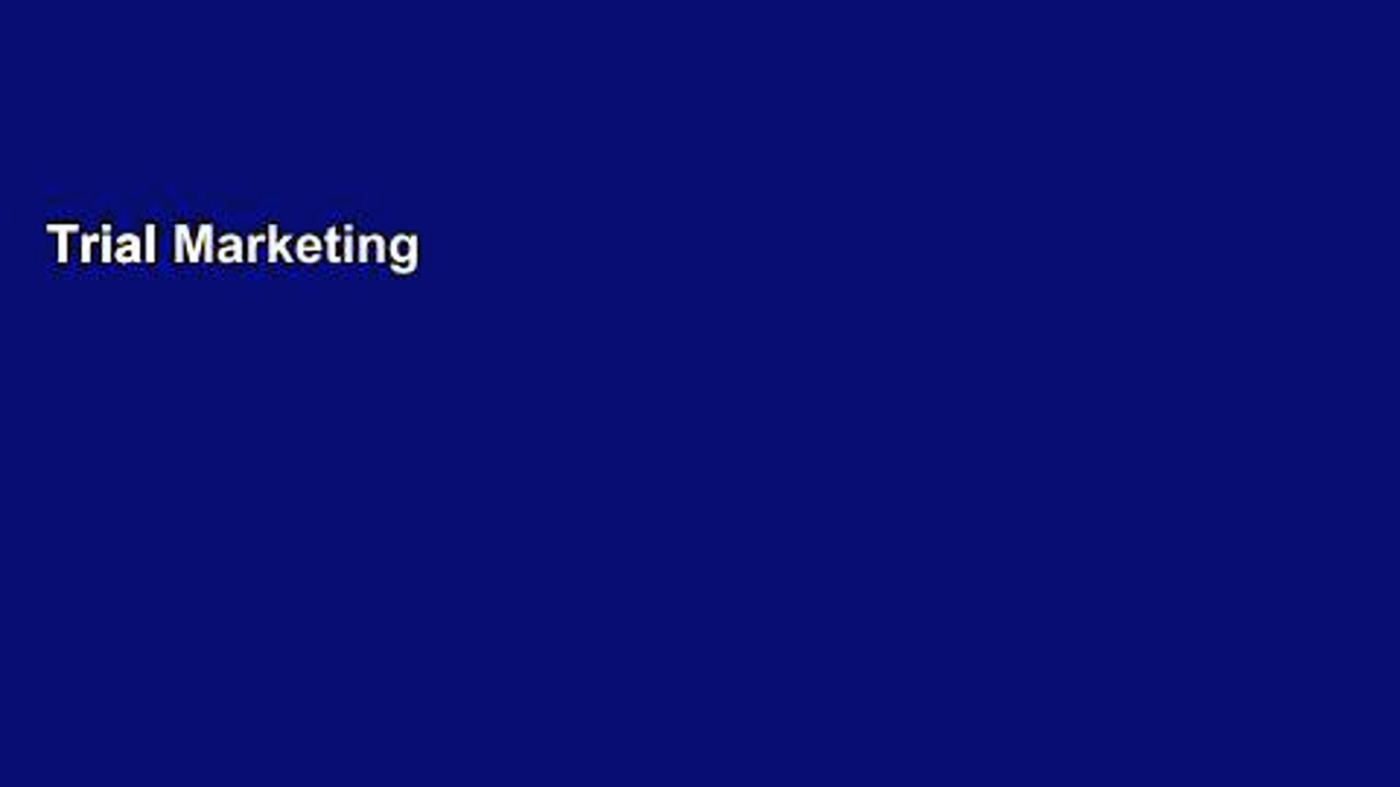 Trial Marketing in the Groundswell Ebook