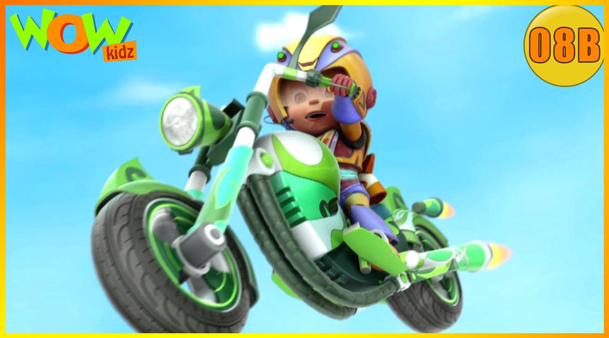 Vir The Robot Boy   The Mad Bike   Action Cartoon for Kids   Wow Kidz