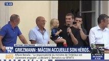 """Antoine Griezmann de retour à Mâcon: """"C'est une fierté d'être Mâconnais, d'être Français"""""""